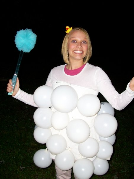homemade bubble bath costume