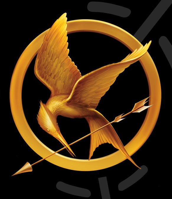 You can trace this image on your computer and use it to cut out your very own mockingjay.