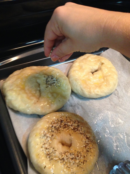 homemade everything bagel